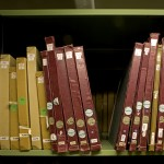 Documents_on_repository_shelving_at_The_National_Archives
